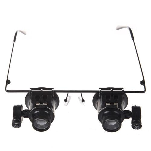 Schwarze 20X Reparatur Brille-Lupe mit LED-Lic O8X3