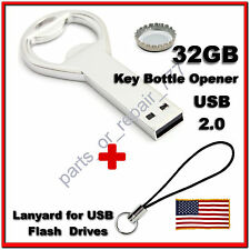 32GB USB Flash Drive 2.0 Metal Key Bottle Opener Memory Stick Pen U Disk Storage