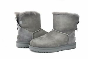 ugg australia women s mini bailey bow boots ii 1016501 grey sz 5 8 rh ebay com
