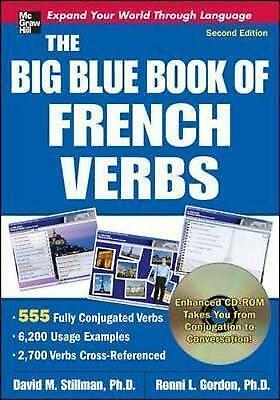 1 of 1 - Very Good, The Big Blue Book of French Verbs with CD-ROM, Second Edition: 555 Fu