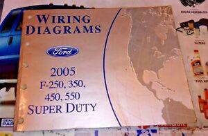 2005 Ford Truck Wiring Diagrams F250 F350 F450 F550 Gas 6 0l Turbo Diesel Ebay