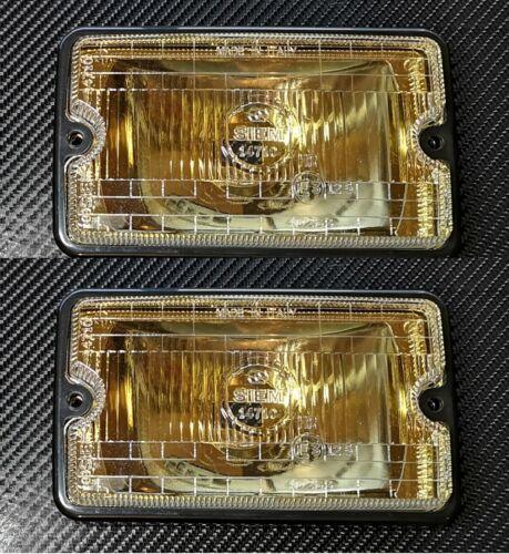2 x Peugeot 205 GTI CTI Replica Siem Spot Light Yellow lens Clear Glass /& frame