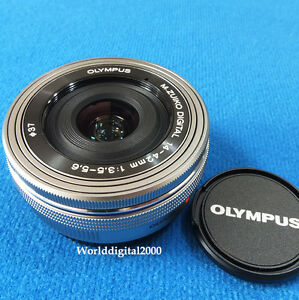 OLYMPUS-New-14-42mm-EZ-Power-Zoom-Lens-Color-Silver-Bulk-For-E-M1-E-M10-E-M5