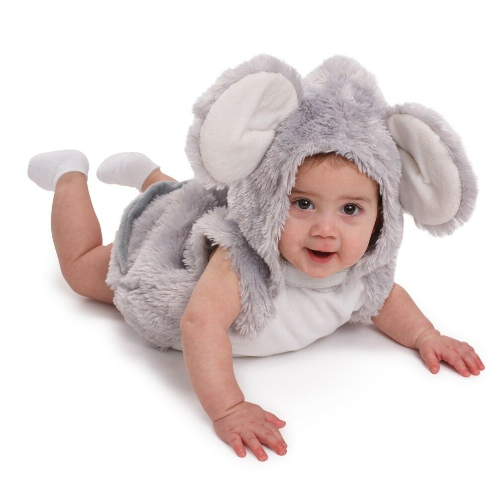 Dress up America Infant Toddlers Baby Squeaky Mouse Halloween Pretend Play Costu