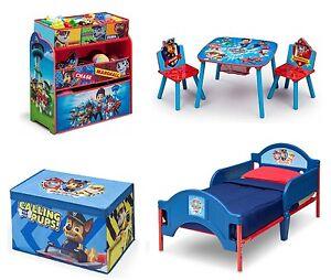 Paw Patrol Bedroom Furniture Set Boys Toddler Bed Room Toy