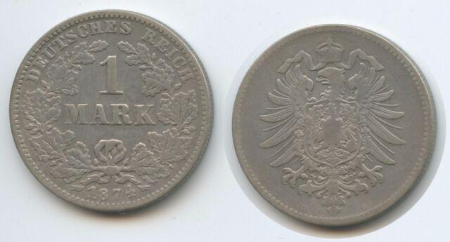 G10913 - Germany Empire 1 Mark 1874 G KM#7 Silver Wilhelm I. Deutsches Reich