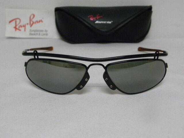 71a4afe57c Vintage B L Ray Ban Inertia Black Silver Mirror W2393 Wrap Sunglasses USA
