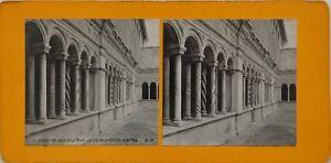 Roma-San-Jean-Da-IN-Laterano-Chiostro-Italia-Foto-Stereo-Vintage-Analogica