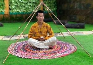 NEW portable Copper Giza 5 feet base Meditation Pyramid ( portable )