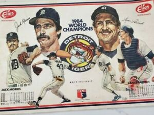 1984-DETROIT-TIGERS-WORLD-CHAMPIONS-PLACEMAT-JACK-MORRIS-LANCE-PARRISH