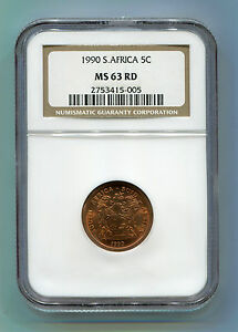 South-Africa-1990-5c-MS-63-RD-NGC-certified-coin