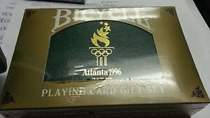 1996 Atlanta Olympics Bicycle Playing Card Gift Collection Set Limited Edition