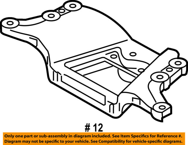 Audi Oem 09 11 A6 Quattro Engine Transmission Mounting Carrier