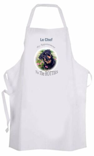 ROTTWEILER DOG FUN FABRIC APRON B KITCHEN SANDRA COEN ARTIST OIL PAINTING PRINT