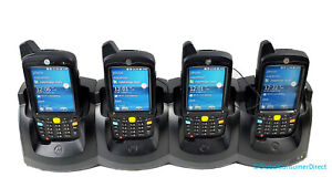 LOT OF 4x Motorola MC67 MC67NA-PDABAB00300 1D/2D WM6.5 Barcode Scanner +Cradle