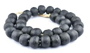 African Black Glass Beads