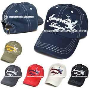 773c697d060 Image is loading American-Reign-Embroidered-Baseball-Cap-Polo-Style-Cotton-