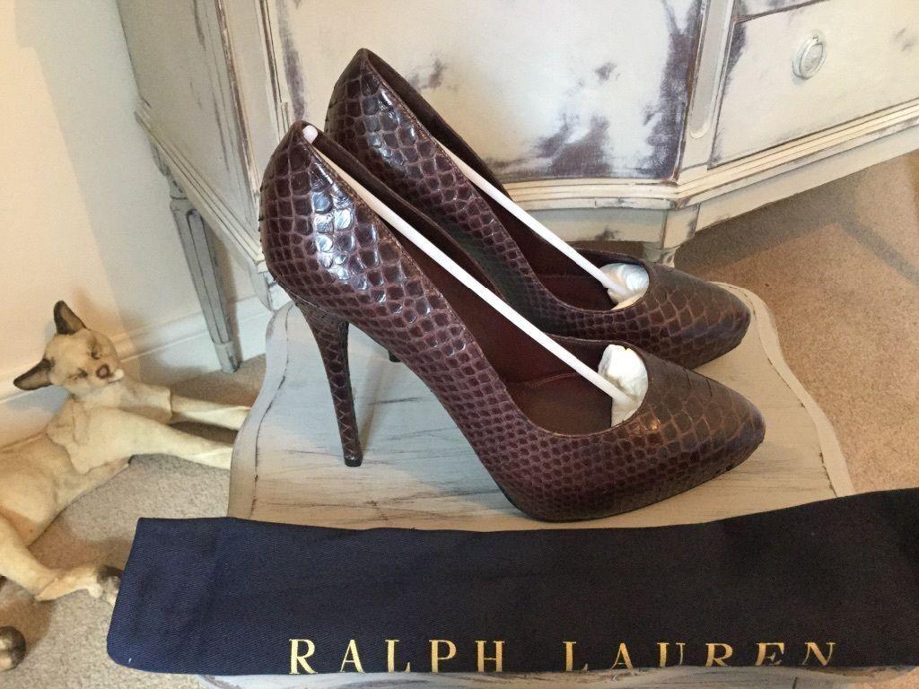 Ralph Lauren collection Python leather stilettos- stilettos- stilettos- European size 39.5  1500 93d0c9