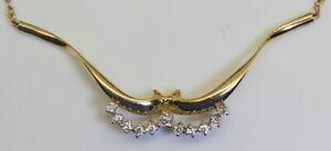 Gorgeous-Estate-14K-Gold-13-Ct-RB-Diamond-16-034-Choker-Chain-Necklace