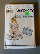 Simplicity #0619 Daisy Kingdom Girls & Doll Dress Pattern size BB 5/6/6X GUC