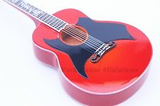 RGM648 Johhny Cash Red Miniature Guitar