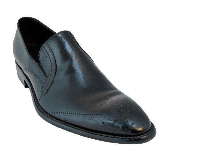 Para Hombre doucals 8241 elegante Italiano resbalón en zapatos de cuero