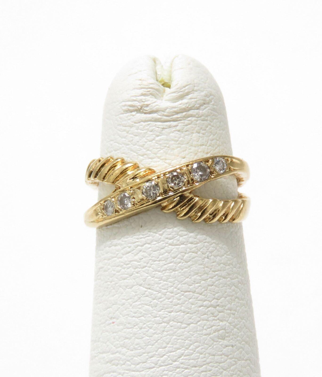 14k Yellow gold Diamond Ring Size 1.75