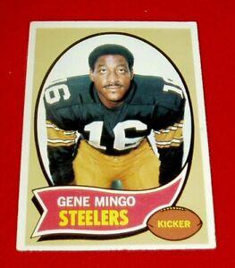 1970-Football-Gene-Mingo-Topps-card-148-EXM-NM-Steelers