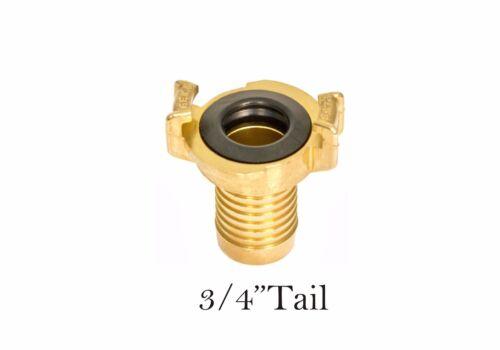 """Baja presión de Bronce Manguera de conexión rápida Garra de acoplamiento de 3//4 /""""de cola"""