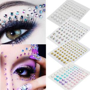 81X,3D,Sticker,Cristal,Strass,Eyeliner,Visage,Yeux,