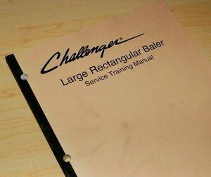 CATERPILLAR Challenger Large Rectangular Baler Shop Service Training Manual book