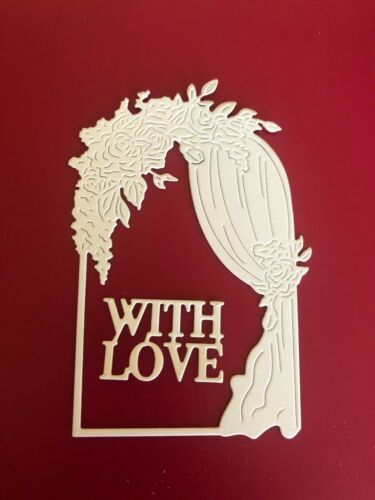 TATTERED LACE DETAILED METAL CRAFT DIES BEST WISHES WINDOW OR WITH LOVE WINDOW