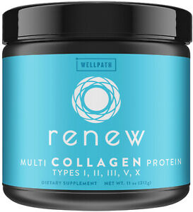 RENEW Multi Collagen Protein Powder - Premium Blend Of Hydrolyzed Grass-Fed and