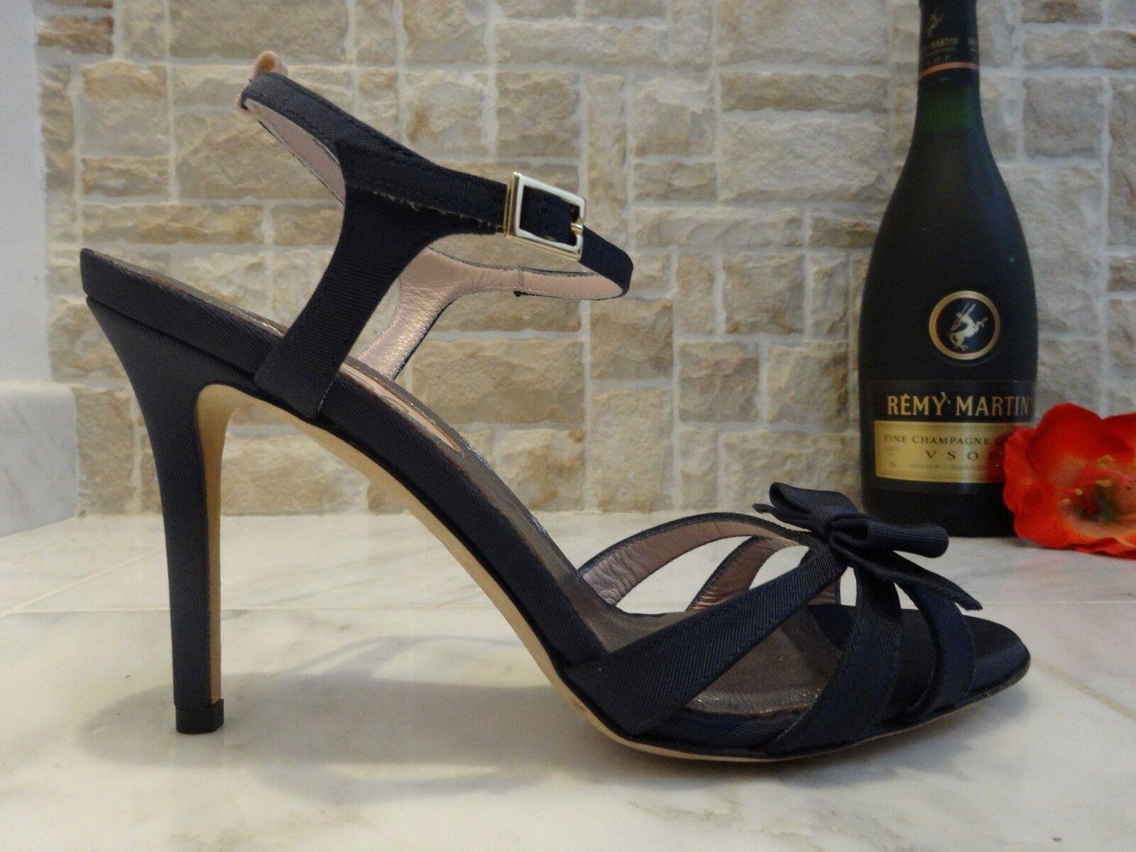 Sarah Jessica Parker Parker Parker 'Silvia' Grosgrain Ankle Strap Sandal Navy 7M   37M 7e787f
