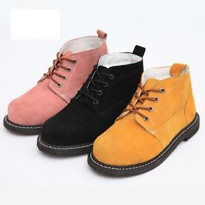 c9fa94f8824c Womens Chic safety Shoes Steel Toe work Boots Labor Protection non ...