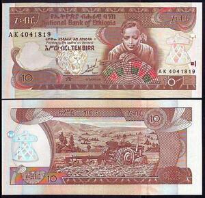 Unc Pick 48a Diligent Ethiopia 10 Birr 1997
