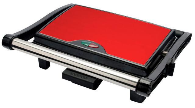 Acier inoxydable PANINI SANDWICH Press & Health grill griddeul cuvette