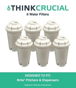 6-Replacements-Pitchers-amp-Dispensers-Brita-Water-Filters