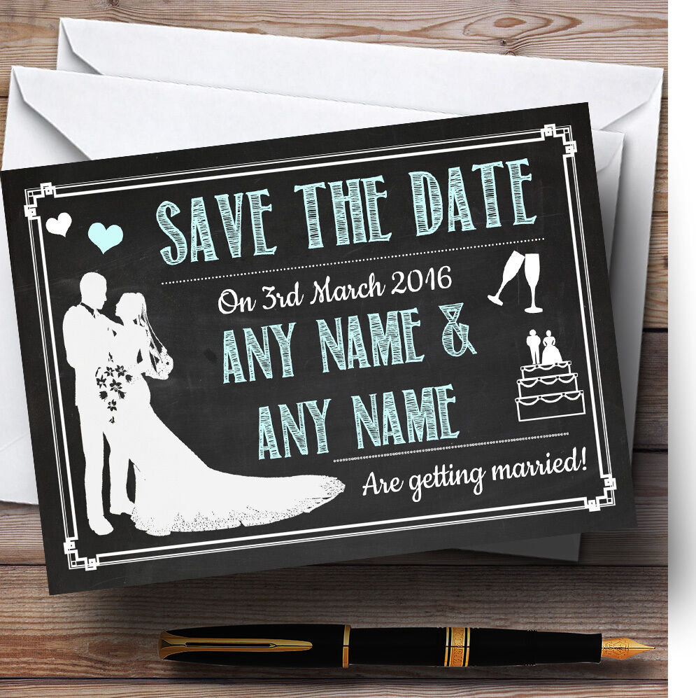 Tableau Aqua Personnalisé Mariage Mariage Mariage save the date cards 431f5f
