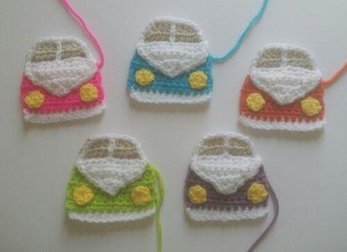 1 Handmade Crochet Camping-car Applique//Embellissement choix de couleurs
