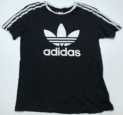 damnificados encerrar Bienvenido  Girls Adidas Originals Black Trefoil TShirt Three Stripes Retro Size Medium    eBay