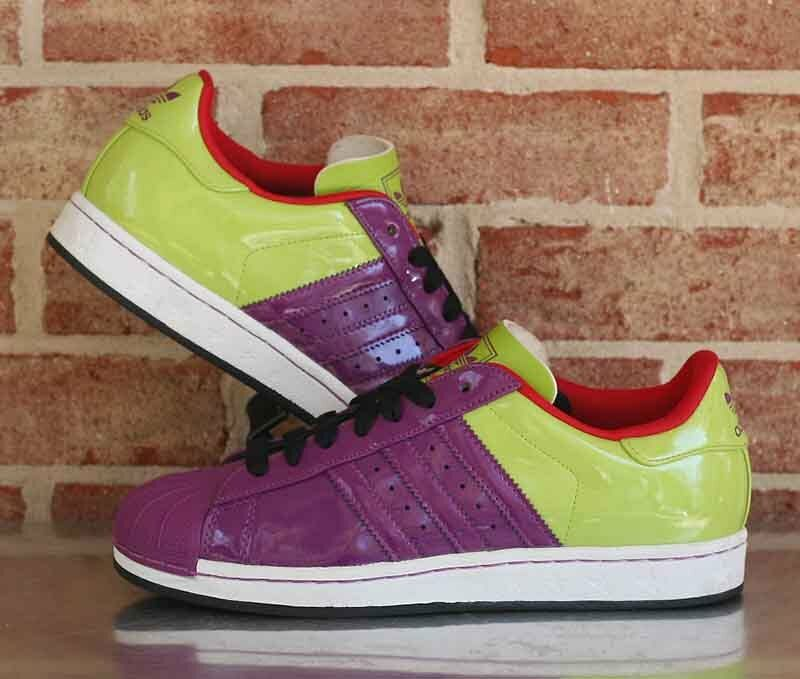 Adidas Originals Superstar 1 Energy Trainers Retro purple Lime 762493 Size 8