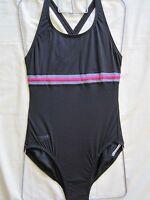 Speedo Swimwear Female Endurance Black Key Crossback With Bust Liner Uk Sizes