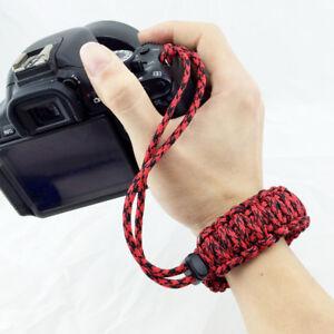 Camera Adjustable Wrist Lanyard Strap Grip Weave Cord for Paracord DSLR
