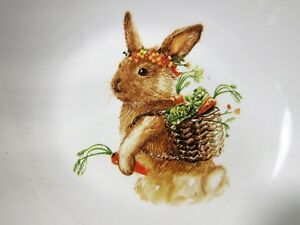 Pier-1-Easter-Lilly-The-Bunny-Garden-Porcelain-Vegetable-Serving-Deep-Bowl-10x3-034