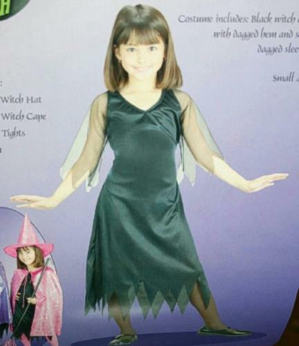 Black Witch Dress Child Costume Size Small 4-6