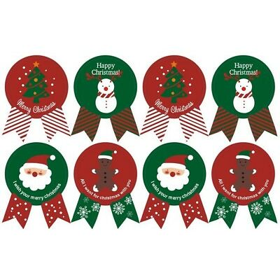 48 sceaux joyeux Noël badge autocollant enveloppe cadeau emballage autocollants