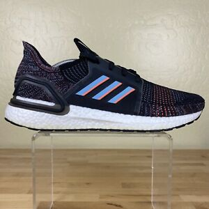 Details about Adidas Ultra Boost 19 Running Shoes Mens Size 11.5 Black Glow Blue