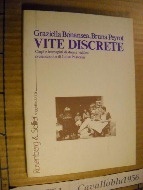 LIBRO - VITE DISCRETE -  AAVV -1° ED.  ROSENBERG & SELLIER 1993 - NUOVO MA