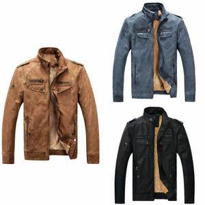 Men-039-s-Genuine-Lambskin-Leather-Jacket-Black-Slim-Fit-Biker-Motorcycle-Jacket-HOT